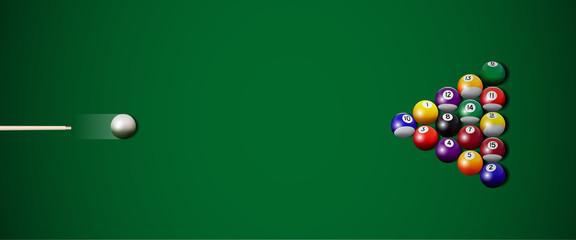 Vector billiard strike.