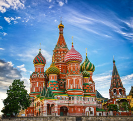 Foto op Aluminium Moskou St Basils cathedral on Red Square in Moscow
