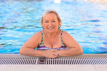 Fit active senior woman enjoying retirement