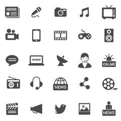 Media Icons. Black series