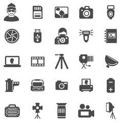 Photography Icons. Black series