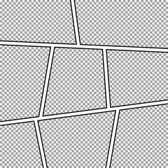 Comic strip frame