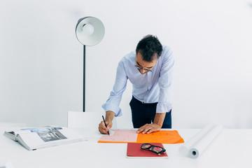 Casual architect in studio
