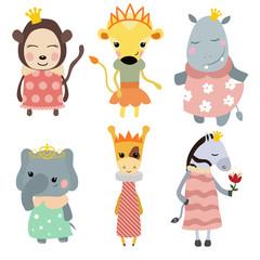 Set of Princess animals.