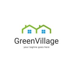Green Village Logo Template