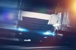 Detaily fotografie Speeding Semi Truck