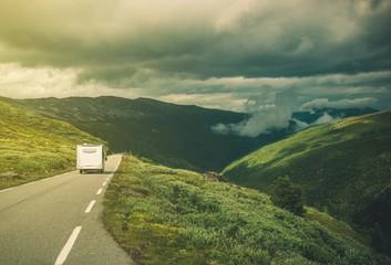 Traveling in RV Camper Van