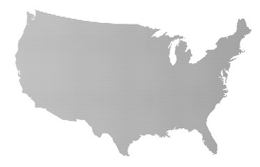 USA Map Halftone Silhouette