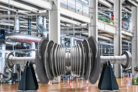 Steam turbine of power generator in an industrial thermal power