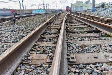 Transsibirische Eisenbahn Schienen