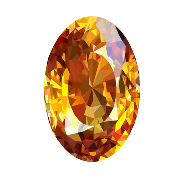 yellow sapphire  graphic vector