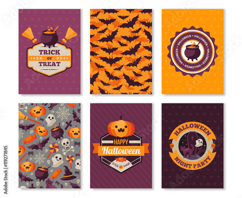 halloween vertical banners typographic template stock image and