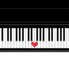 Heart love music piano