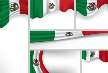 Vector Mexico Flag, Mexican Colors (Vector Art)