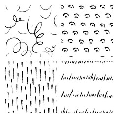 seamless hand drawn ink patterns