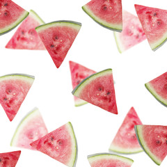 Beautiful background of watermelon slices