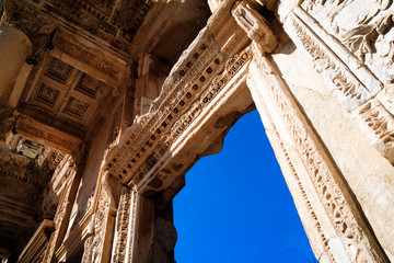 Library of Celsus in Efes, stone windows and walls