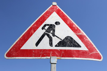 Deutsches Verkehrszeichen: Arbeitsstelle
