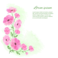 illustration of watercolor stylized flowers
