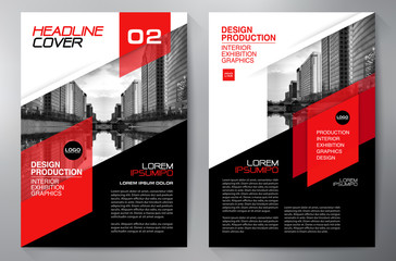 Business brochure flyer design a4 template. Wall mural