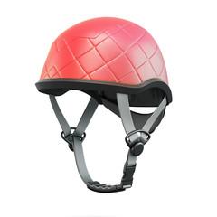 Red helmet. 3d rendering.