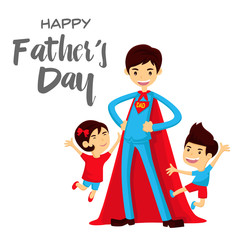 Happy Father's Day Card - Super Hero Dad To The Rescue