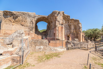 Villa Adriana, Italy. The building, which includes baths with solar heating. UNESCO list