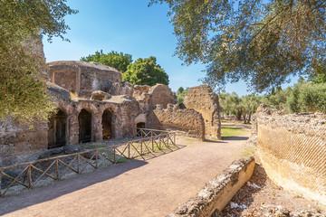 Tivoli, Italy. Ancient ruins of the villa of Hadrian, II century AD. UNESCO list