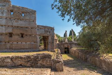 Tivoli, Italy. The ruins of the villa of the Emperor Hadrian