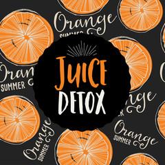 Juice banner design restaurant template.