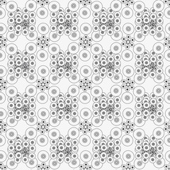 The pattern of circles