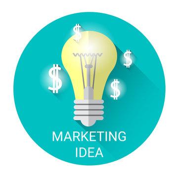New Marketing Idea Business Economy Icon