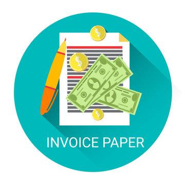 Invoice Financial Bill Paper Business Economy Icon