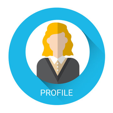 Business Woman Profile Icon