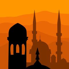 mosque. the Islamic religion