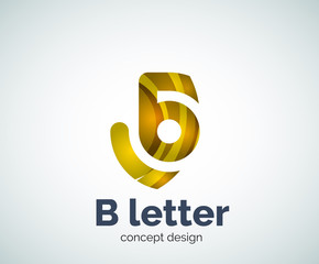 Vector B letter concept logo template