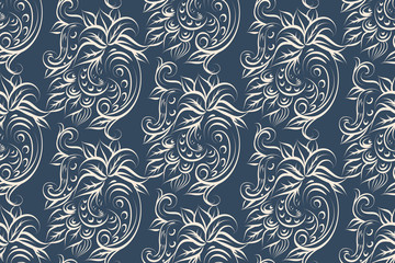 Seamless pattern with Paisley print