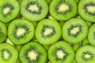 Kiwi slices texture pattern for background