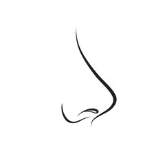 Nose isolated. Human nose icon. Vector illustration
