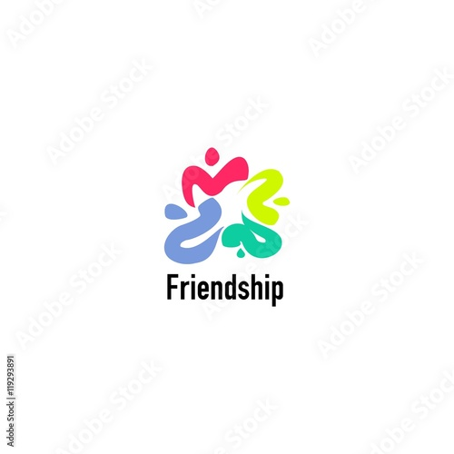 Friendship Logo Design Template. Perfect For Friendship Day