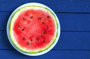 Round watermelon slice