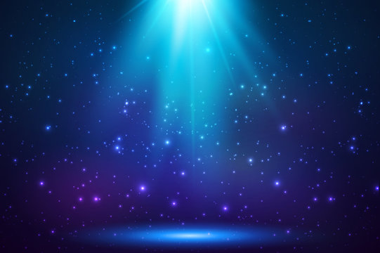 Blue shining top magic light background