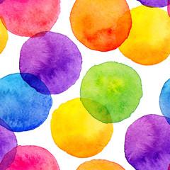 Akwarela jasne kolory tęczy malowane koła wzór - 119298290