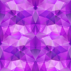 Violet crystal abstract vector seamless pattern
