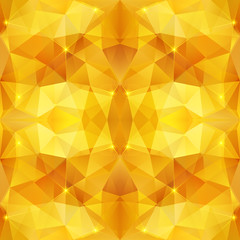 Honey crystal vector abstract pattern