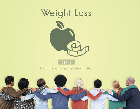 Weight Loss Diet Fitness Exercise Healthy Lifestyle Concept