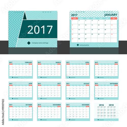 small desk calendars 2018