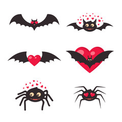 Inlove bats and spiders.