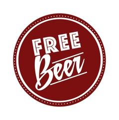 free beer offer poster