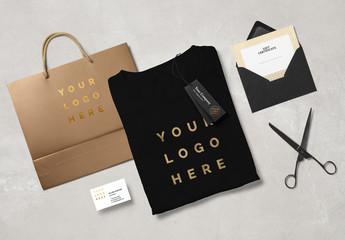Retail Branding Scene Mockup